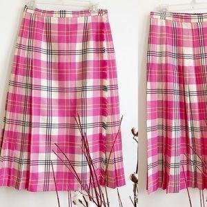 Vintage Highland Queen Tartan Wool Skirt Size 8